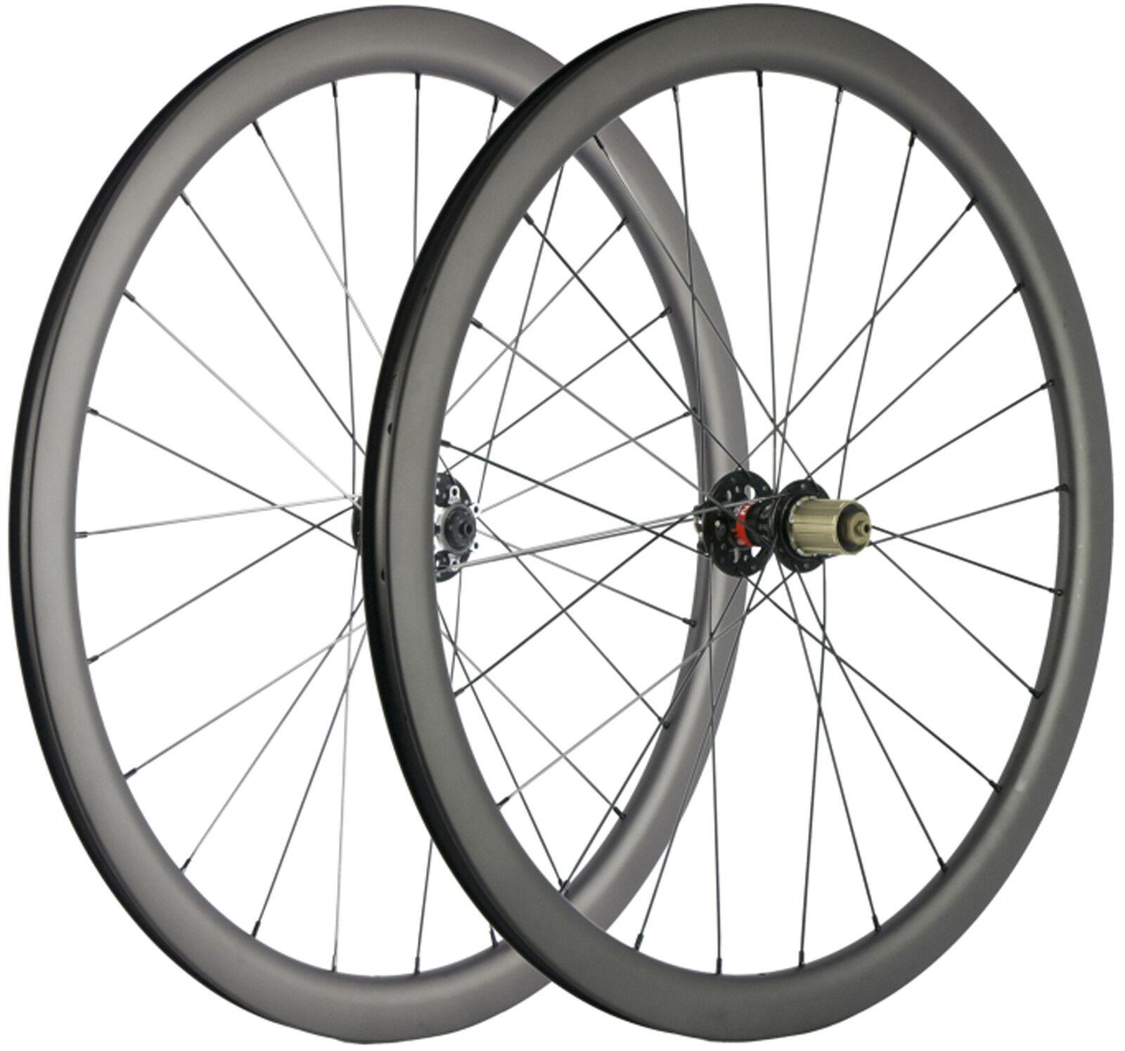Carbon Cyclocross Wheels Disc Brake 40mm Depth 25mm U Shape Thru Alxe QR Wheels