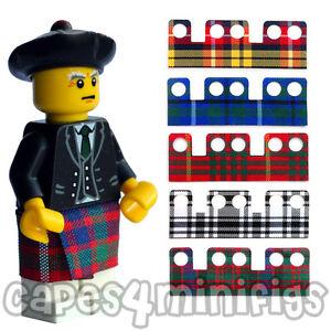 CUSTOM-tartan-kilt-cape-Ideal-for-your-Lego-bagpiper-minifig-Kilt-only