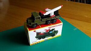 Vintage Dinky # 620 Lanceur de missiles Berliet Gazelle Lot # 1