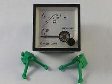 Siemens EC48 25/1A Amperemeter analog Einbaumessgerät NEU