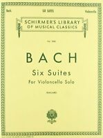 6 Suites: Cello Solo By , (sheet Music), G. Schirmer, Inc. , New, Free Shipping