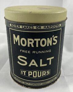 Collector Tin Vintage Look Morton's Salt Tin Can Container Thoikol Bristol Ware