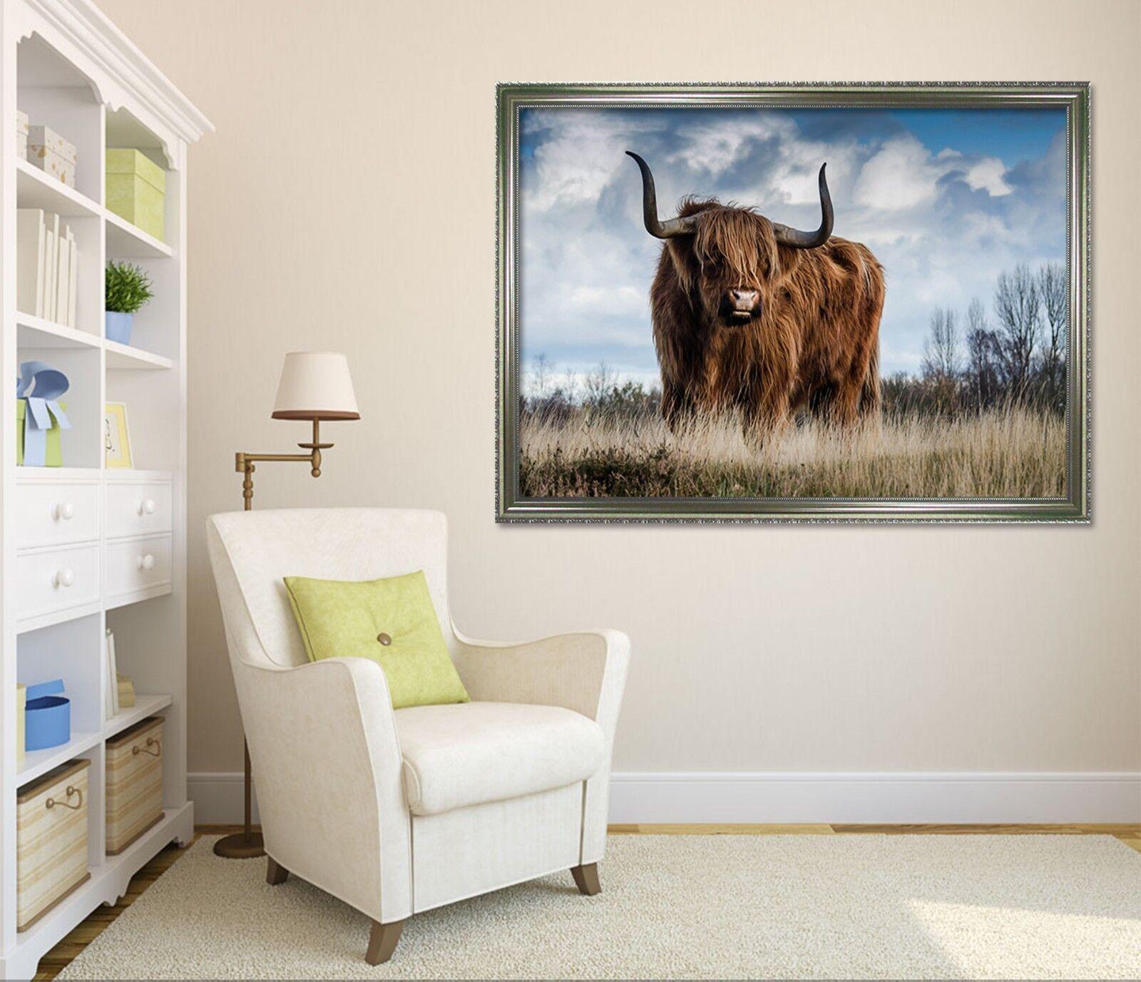 3D Big Goat 6 Framed Poster Home Decor Print Painting Art AJ WALLPAPER