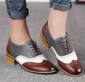 Round Toe Flat Heel Shoes Uk Sz