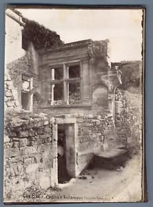 100% De Qualité France, Les Baux, Croisée Historique, Ancien Temple Vintage Albumen Print. T