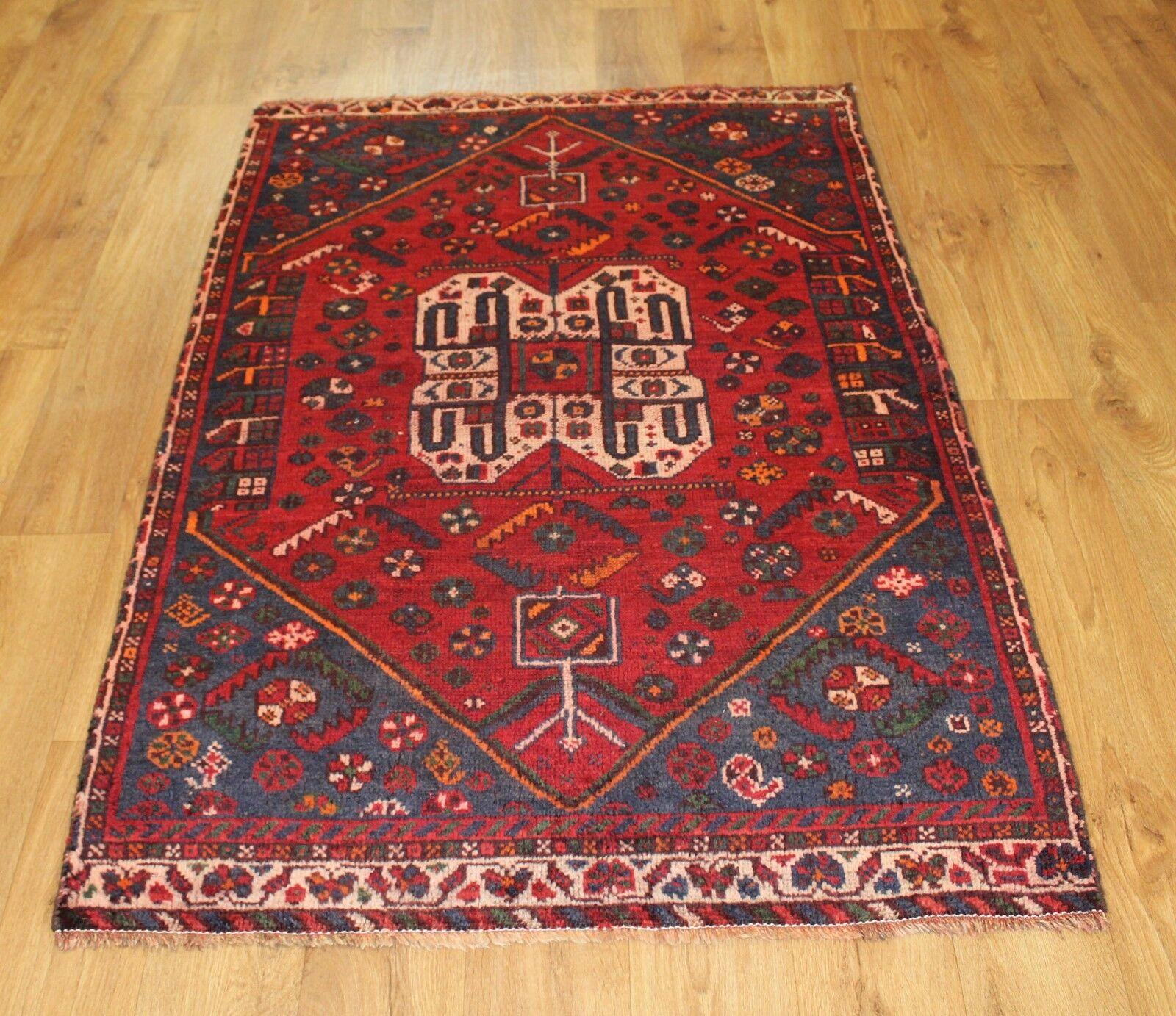 Traditional Vintage Wool Wool Wool Handmade Classic Oriental Area Rug Carpet 150X 98cm bd20a8