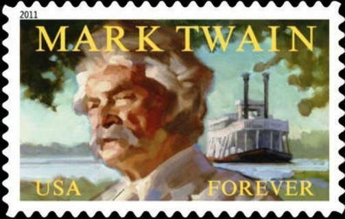 2011 44c Mark Twain, Literary Arts, Huckleberry Finn Sc