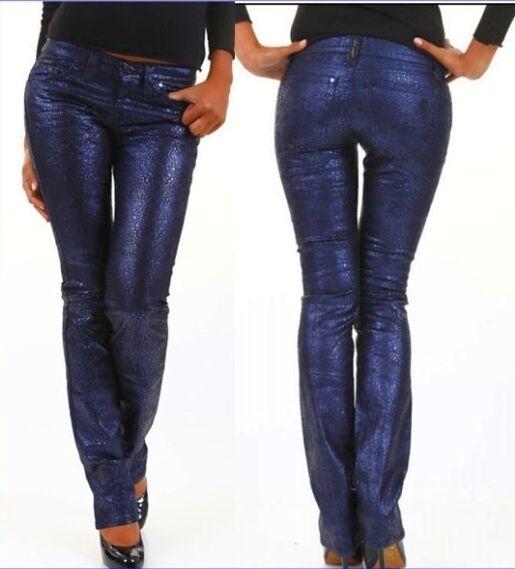Pantaloni women Jeans Slim Fit SEXY WOMAN A482 Effetto Lucido Tg S veste XS