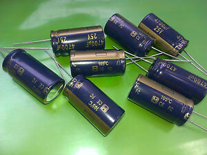 [8 pcs] Panasonic FC 4700uF 25V Low Imp. Radial Electrolytic Capacitors 18x35