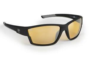 Fox Rage Matt Black - Amber Lense Wraps / Fishing Polarised Sunglasses