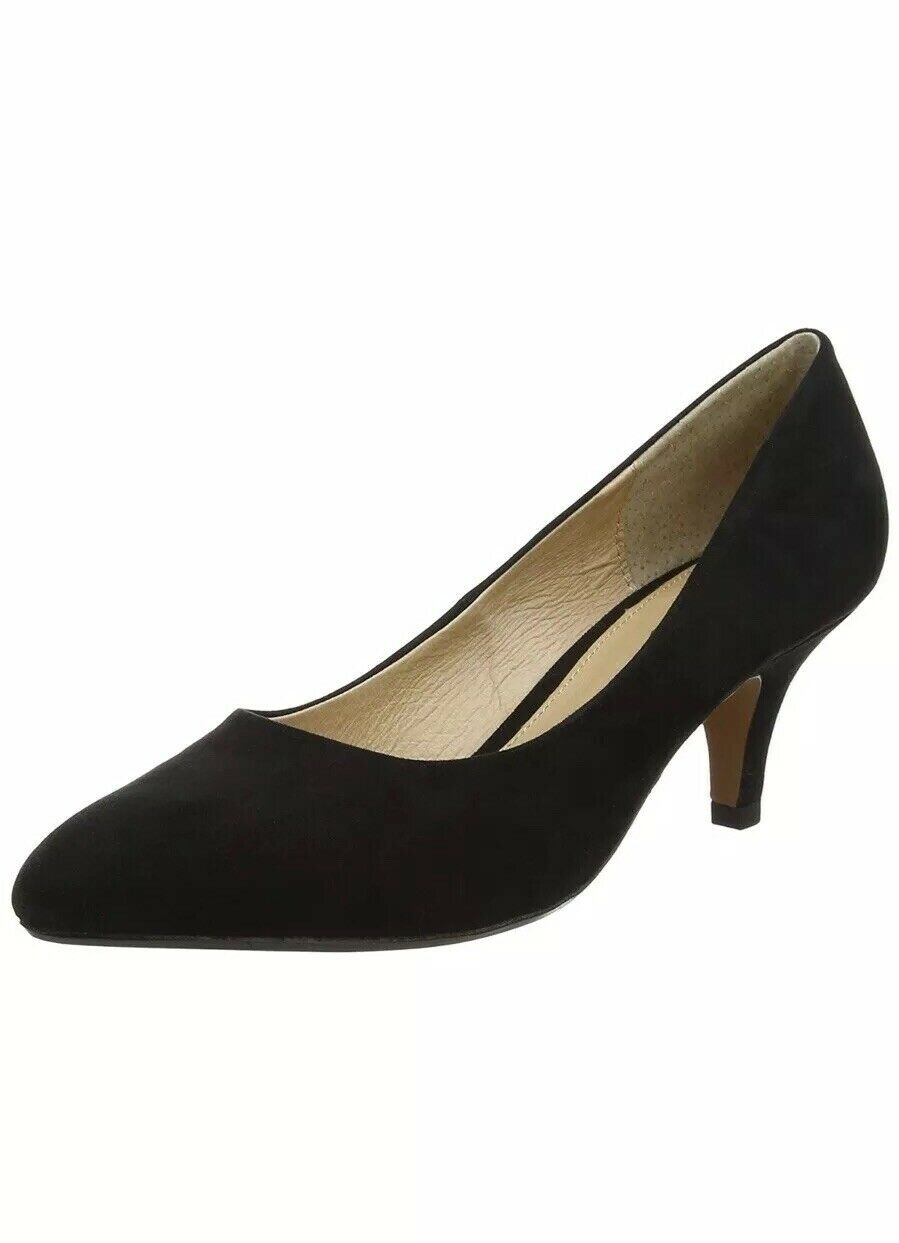 Lotus Women's Clio Closed-Toe Heels, (Black Microfibre)  UK 4.5 EU 37.5