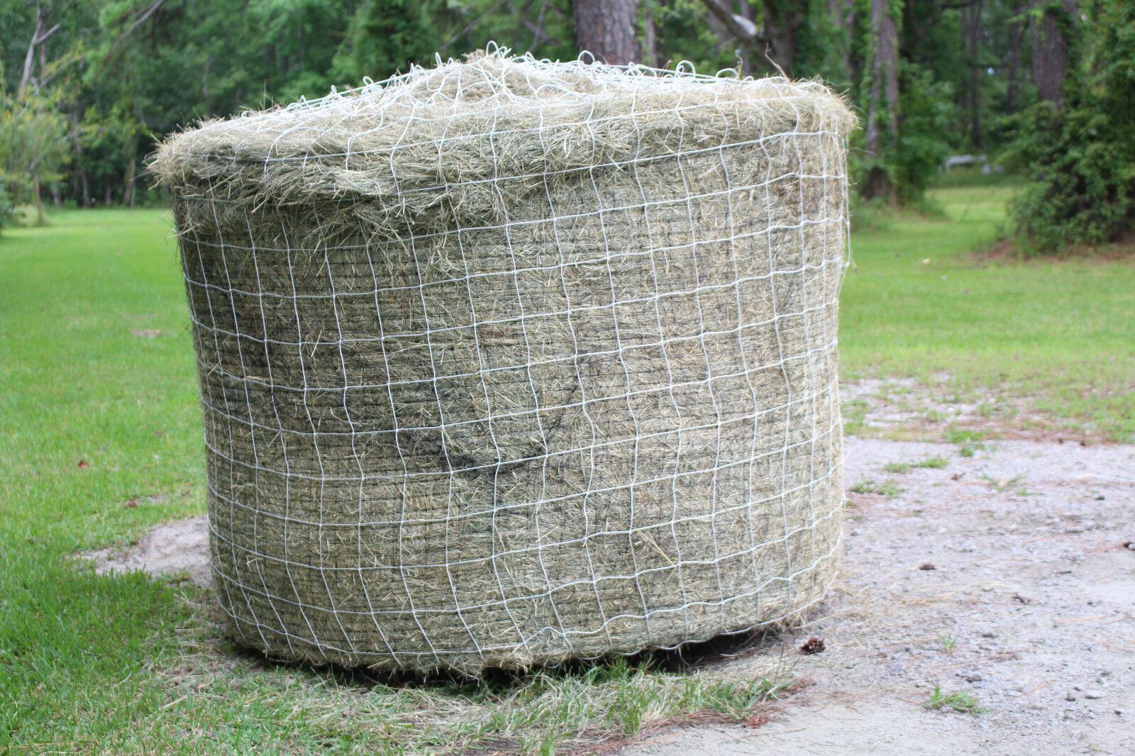Horse Hay Round Bale Net Feeder 4  Save    Eliminates Waste Fits 4' x 4' Bales