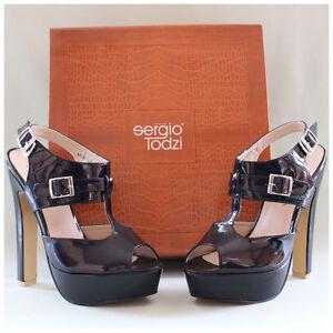 Sergio-Todzi-Sandaletten-Gr-38-High-Heels-Lackpumps-schwarz-glaenzend-2243