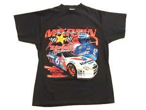Vintage-90s-TULTEX-Mens-Large-Mark-Martin-Hardees-Roush-Exide-Racing-Race-Shirt