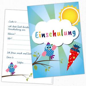 Karte Schulanfang.8 Einladungskarten Zum Schulanfang Einschulung 1 Schultag