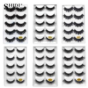 5-Pairs-3D-Mink-Eyelashes-False-Eyelashes-Natural-False-Lashes-Faux-Cils-Cilios