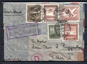 Chile-1950-Airmail-censored-cover-to-Austria-faults-WS7243