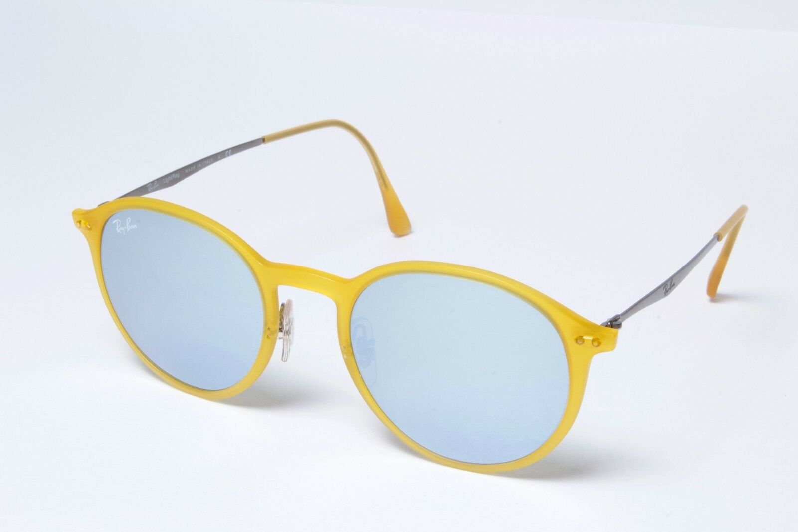 23611275038f3 Ray-Ban Rb4224 618630 Sunglasses Yellow Frame Silver Mirrored Lenses ...