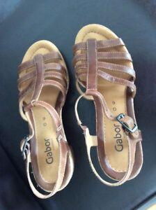 Kork Damen Zu 6 G Pumps 39 Neuwertig Details Leder Sandalen Comfort Gabor Schuhe Größe TlJ1cFK3