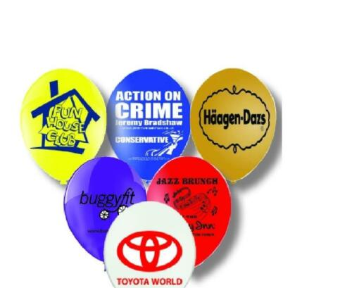 "250 x 11"" Personalised Balloons - Custom Printed Balloon Helium Quality Latex"