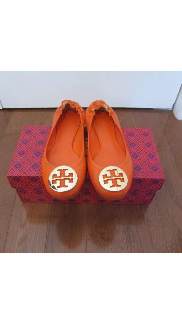 TORY BURCH Orange Leather Sz Sz Sz 7 NIB  225 0cbf70