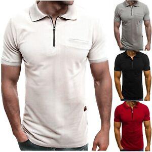 Men-039-s-Slim-Fit-Polo-Shirt-Short-Sleeve-Casual-Summer-Golf-Sport-T-Shirt-Tops-Tee