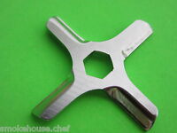 Hex Center Moulinex Rival Krups Meat Grinder Knife Blade Stainless Steel
