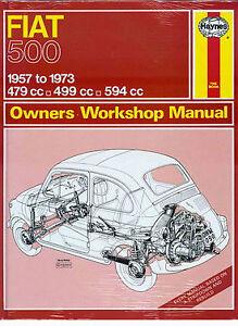 fiat 500 shop manual repair book service haynes abarth topolino rh ebay com Fiat Topolino Drag Cars Jay Leno Fiat Topolino