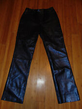 LINDA ALLARD ELLEN TRACY 100% Leather Lined PANTS Size 10 ~ Nice~