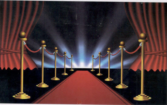 Hollywood Red Carpet Scene Setter Theme Party Decoration Wall Decorating Kit