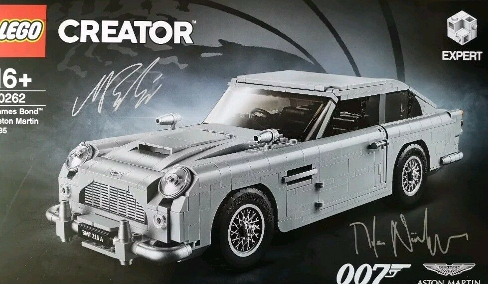 nouveau LEGO Creator Expert 10262 James Bond  Aston Martin DB5 SIGNED EXCLUSIVE  derniers styles