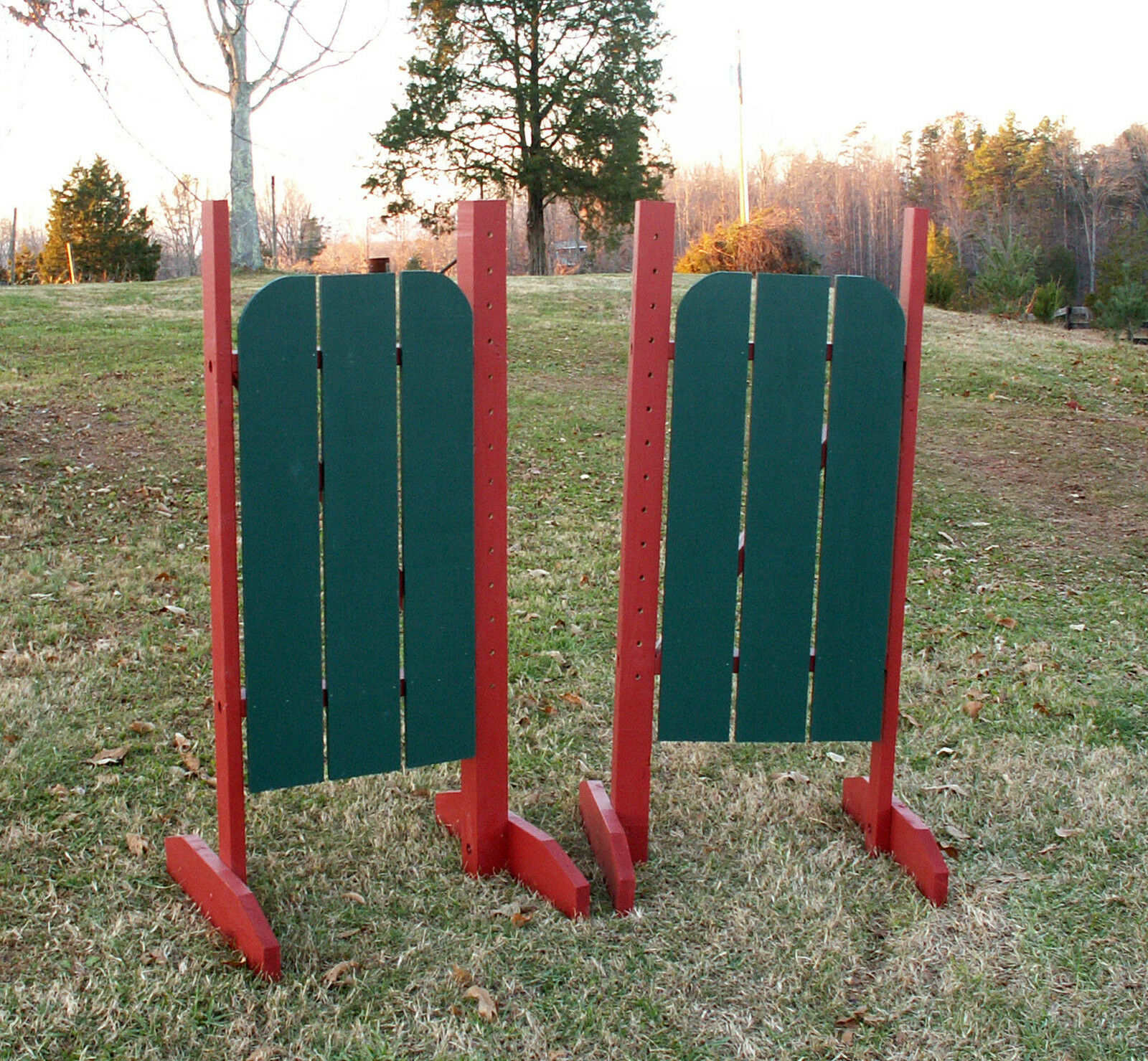 Horse Jumps 3 Panel Barn Door  Wing Standards 6ft Pair - color Choice  good quality