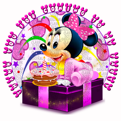 70 x Minnie Mouse stickers 37mm party favours cone labels birthday parties