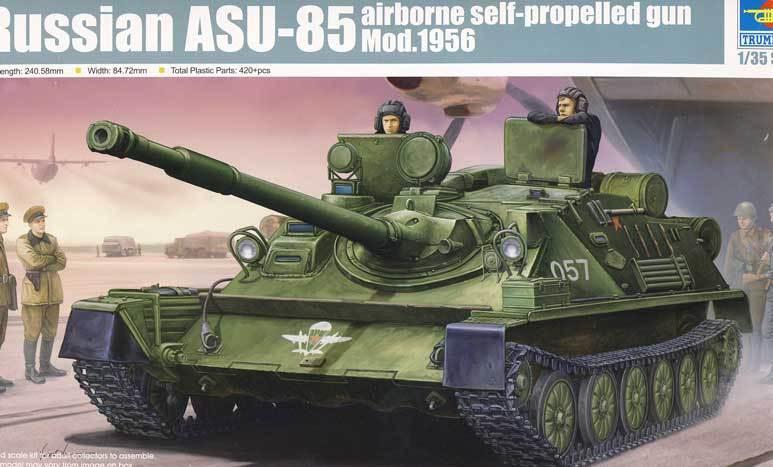 A TROMBA - Russo Soviet ASU-85 AIRBORNE GUN 1 3 5 modello KIT NUOVO conf. orig.