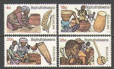 Bophuthatswana 1979 Beer Making/Plants 4v set (n22642)