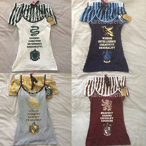 harry potter ladies pyjamas primark hogwarts cami vest shorts womens pajamas ebay. Black Bedroom Furniture Sets. Home Design Ideas