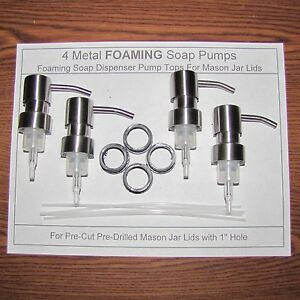 4 Foaming Soap Dispenser Pump Replacement Tops Stainless