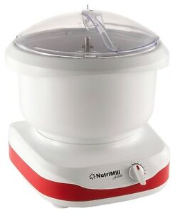 NutriMill-Artiste-650-Watt-6-Qt-Compact-Complete-Kitchen-Stand-Mixer-Red-NEW