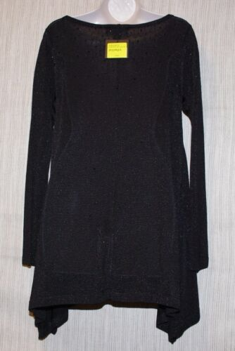 TunicDress Dames Jersey Maatp Asymmetrical Black john Beaded Viscose St Nwt sxtQrChd