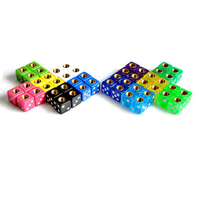 Old School BMX Bicycle Dice Valve Caps Sold In Pairs -  Biggest Range Of Colours