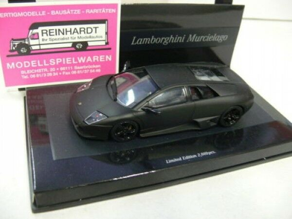 1 43 Minichamps Lamborghini Murcielago 2006 nero mate linea opaca
