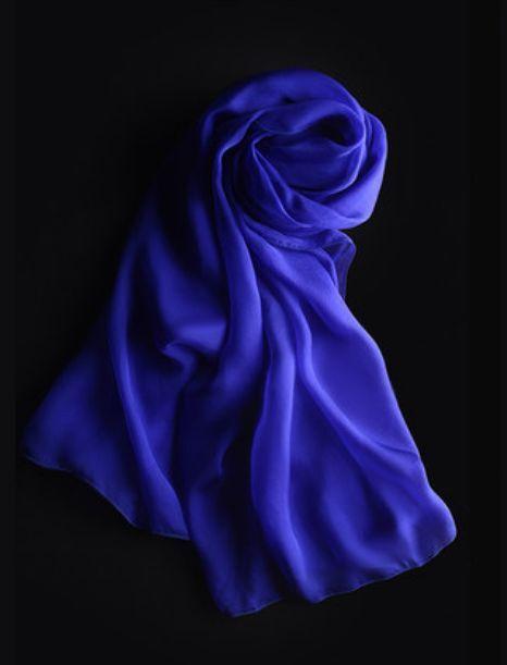 Lady Women Fashion Stylish Soft Silk Chiffon Scarf Wrap Shawl Stole Royal Blue