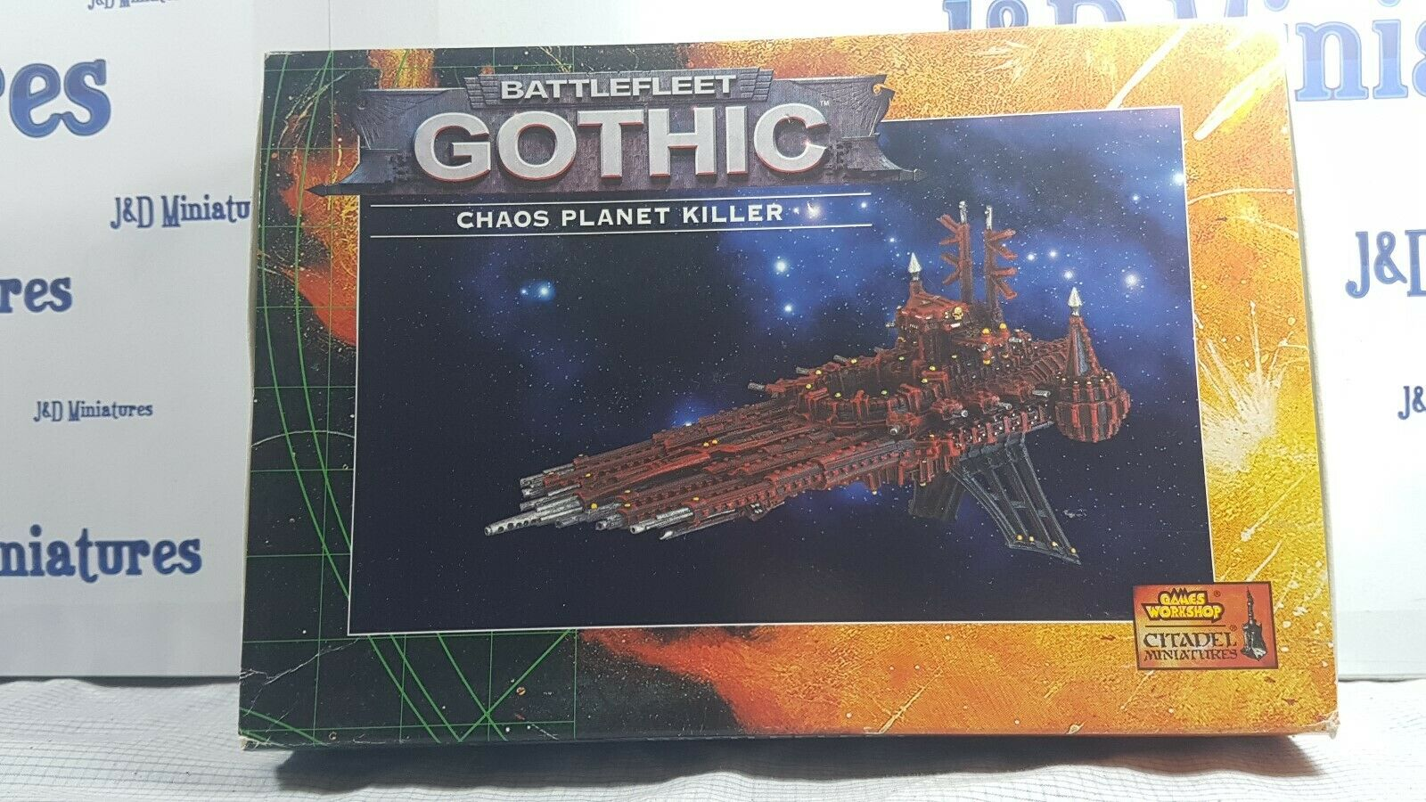 Games Workshop Citadel Battlefleet Gothic BFG Chaos Planet Killer BNIB Metal OOP