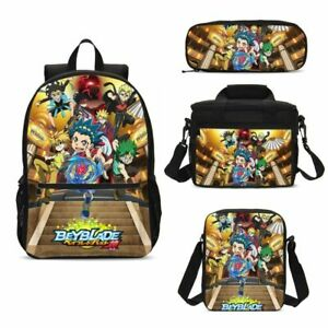 Details about Beyblade Burst Turbo Big Backpack Insulated Lunch Box Crossbody Bag Pen Case Lot