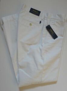 NWT-Polo-Ralph-Lauren-WHITE-Flat-Front-Prospect-style-Chino-Pants