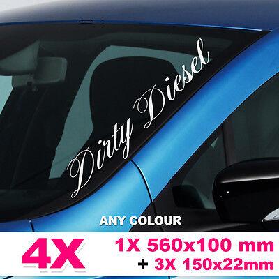 Large Windscreen Bumper Car Sticker Decal JDM EURO Scene Dirty Diesel Small