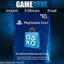 PlayStation Network $10 USD Code - 10 Dollar PSN US Store Card - PS4/PS3/PSP USA
