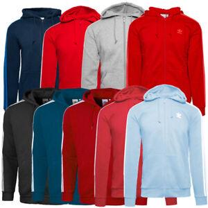 Adidas 3 Stripes Full Zip Hoodie Herren Kapuzen Jacke Sweatjacke navy EK0259 | eBay