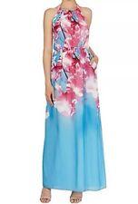 BNWT🎀Coast🎀Size 16 Cherry Blossom Floral Print Maxi Dress, Blue Pink Multi New