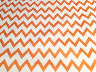 Price Per Fat Quarter 50x75cm Demand Exceeding Supply Orange Chevron Pul Fabric For Nappies & Wetbags Baby